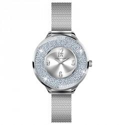 Victoria (Milanese) Light Silver Sunray/Silver